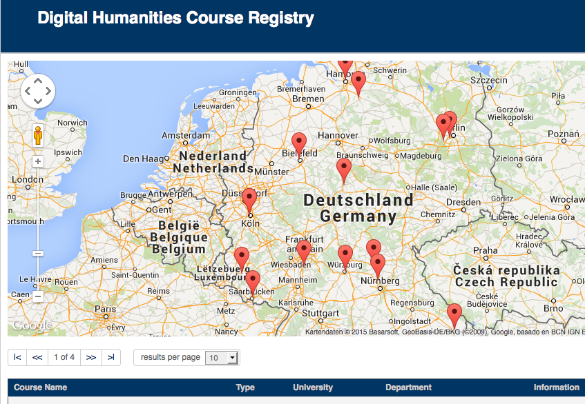 DHCourseRegistry Screenshot